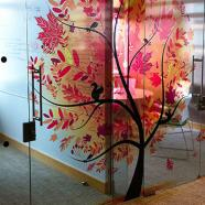 Glass doors digital print