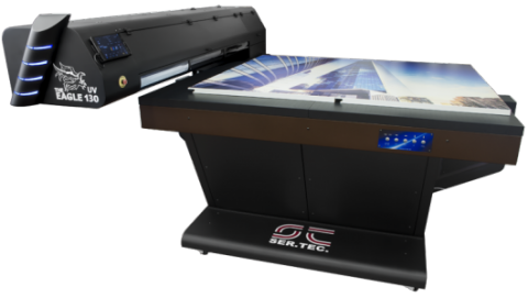 UV led printer white and glossy ink
