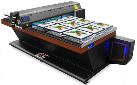 Large format textile printer big table