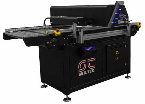 Industrial printer for continuous printing line
