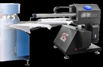 Digital printing in screen printing carousel